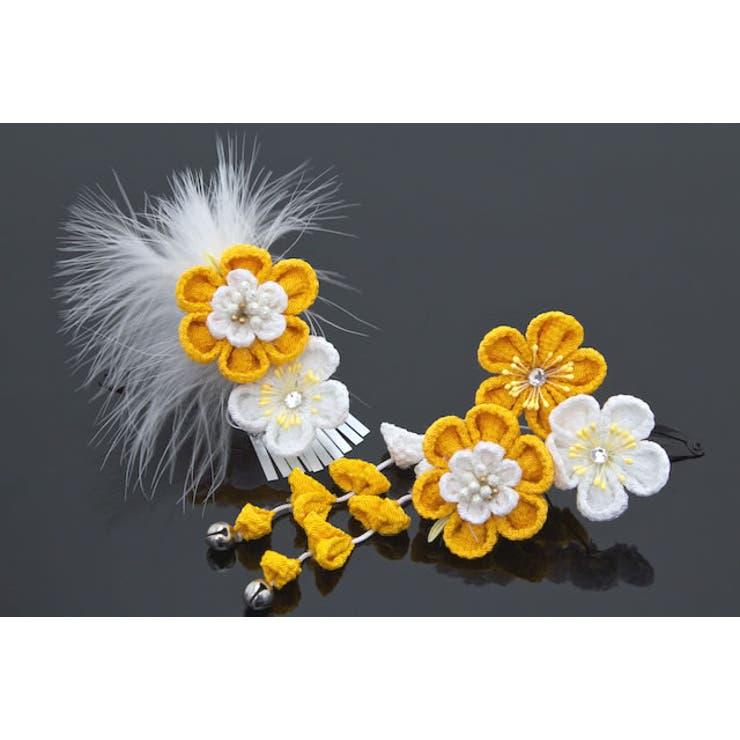 成人式の振袖におすすめな花のつまみ細工の髪飾り | 詳細画像