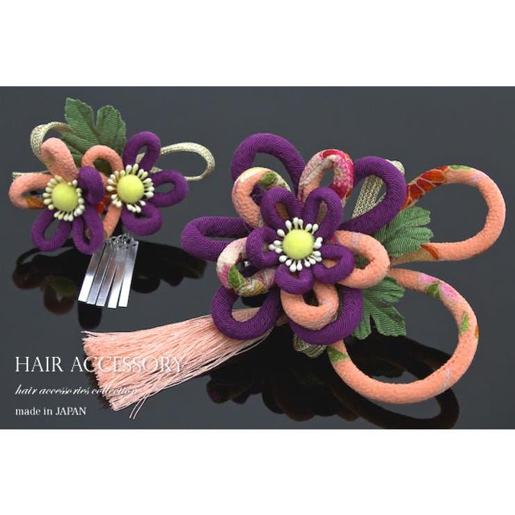 成人式の振袖におすすめな花のコサージュの髪飾り | 詳細画像