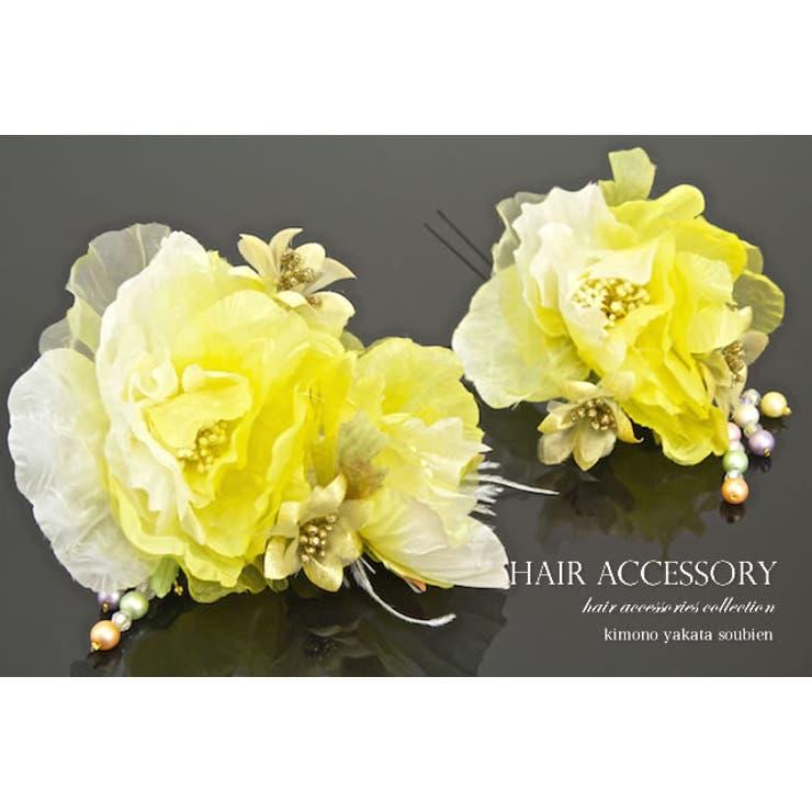 成人式におすすめなお花の髪飾り   詳細画像