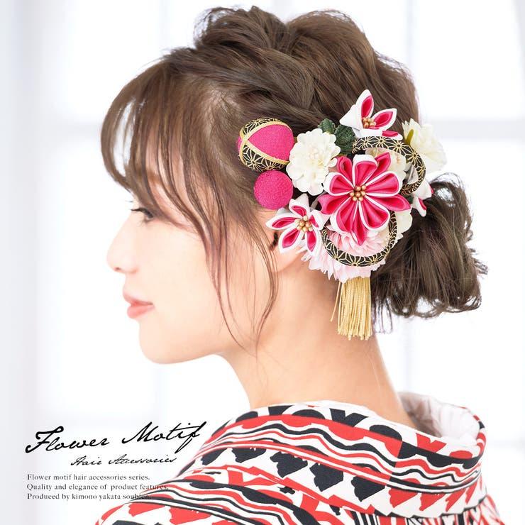 髪飾り 2点セット ピンク | SOUBIEN | 詳細画像1