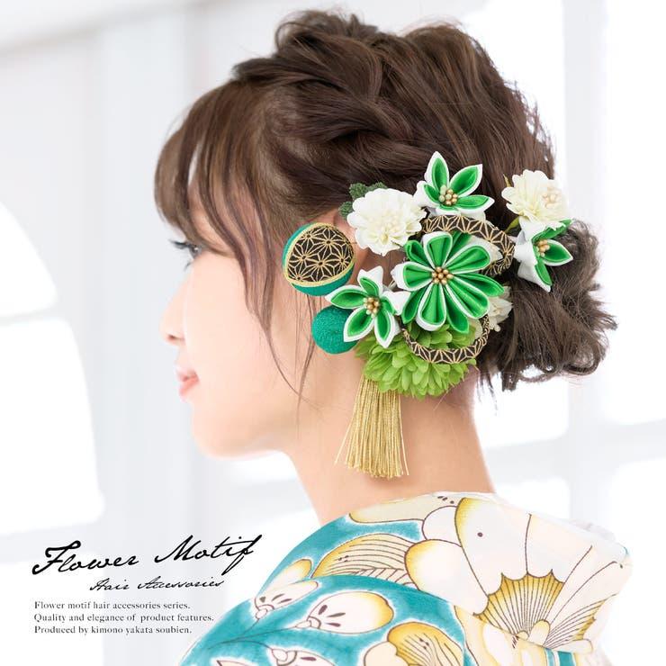髪飾り 2点セット 緑系 | SOUBIEN | 詳細画像1