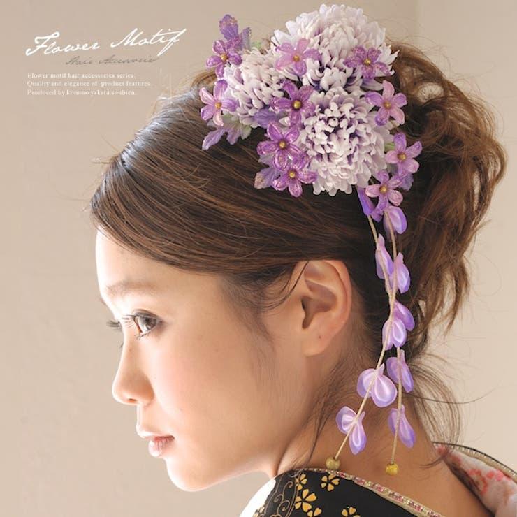 菊の髪飾り2点セット   詳細画像