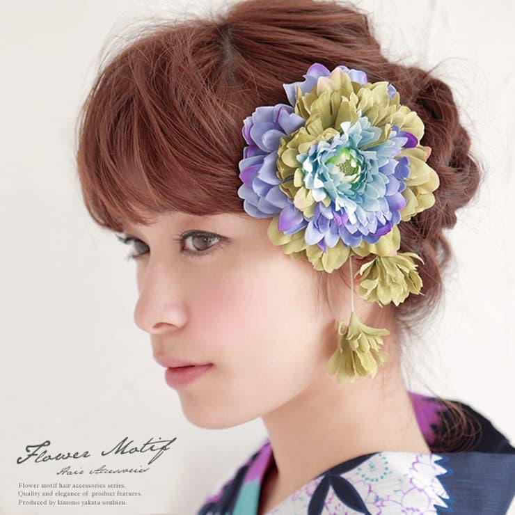 着物姿にプラスワン☆彩り豊かな花の髪飾り   詳細画像