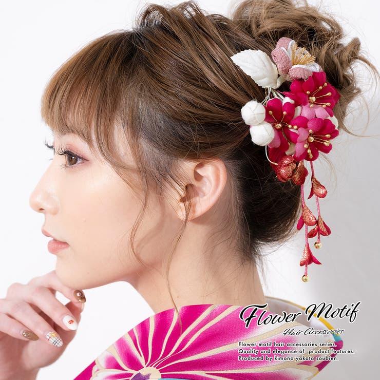 成人式におすすめなつまみ細工髪飾り   詳細画像