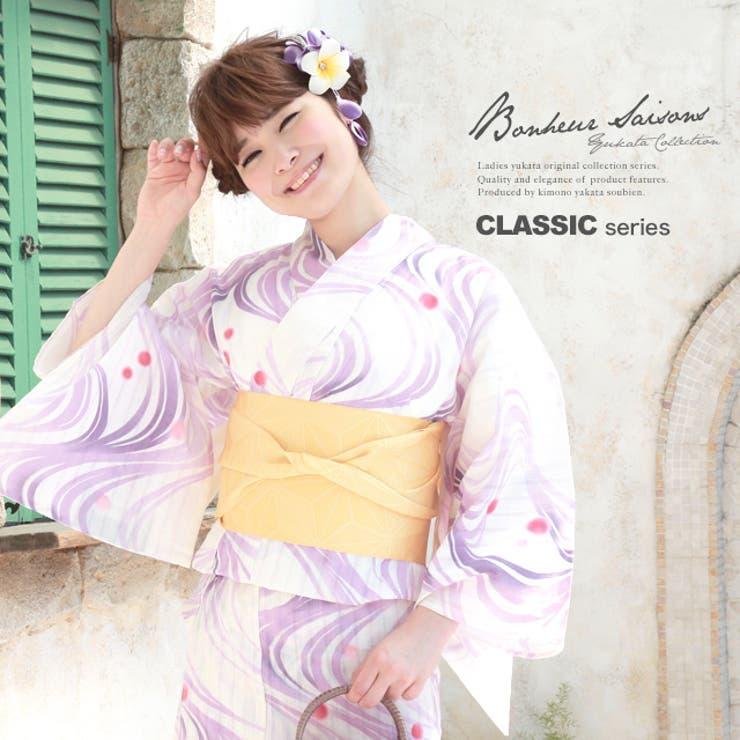 紫・ボヌールセゾンのレディース浴衣 | 詳細画像