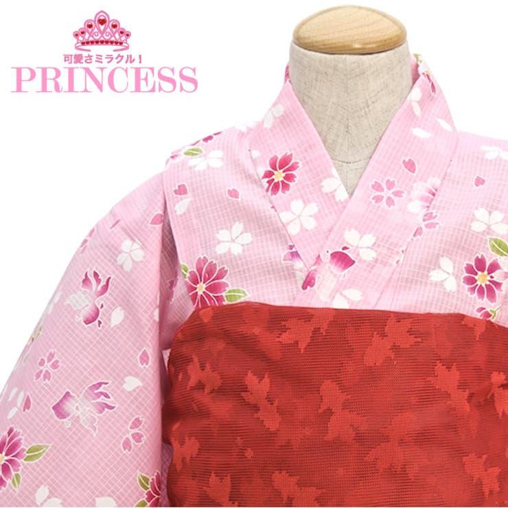 金魚&桜柄、子供浴衣 | 詳細画像