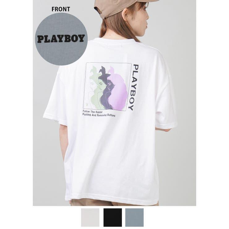 【PLAYBOY/プレイボーイ】Tシャツ/バニーガール | SPINNS | 詳細画像1