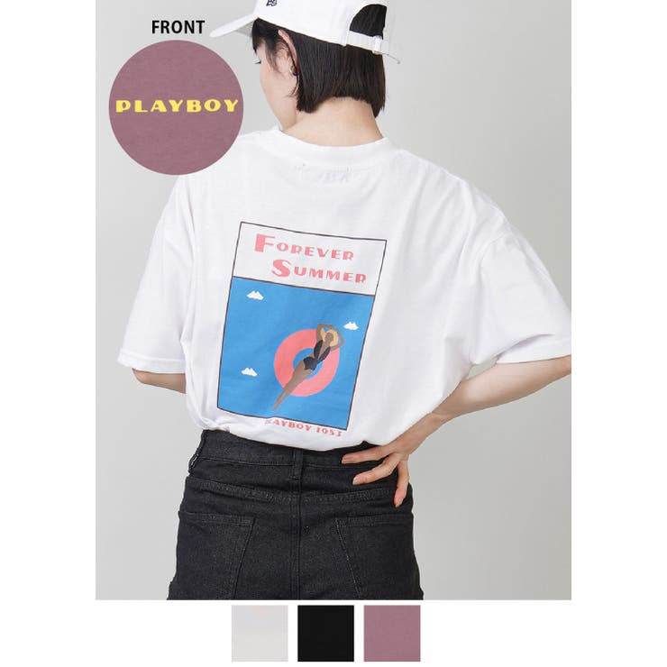 【PLAYBOY/プレイボーイ】Tシャツ/FOREVER SUMMER   SPINNS   詳細画像1