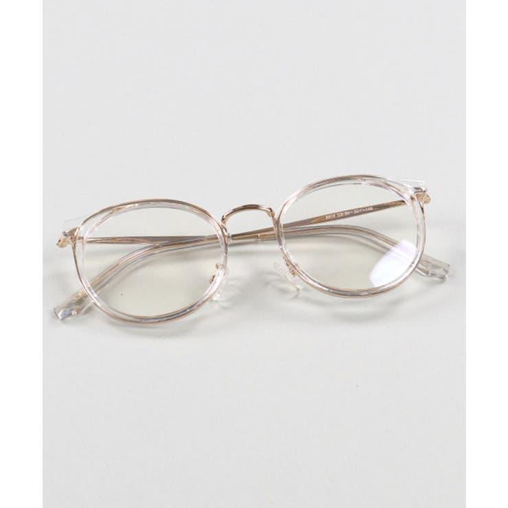 ボストン型メガネ クリアフレーム クリアxゴールド | SPINNS【MEN】 | 詳細画像1
