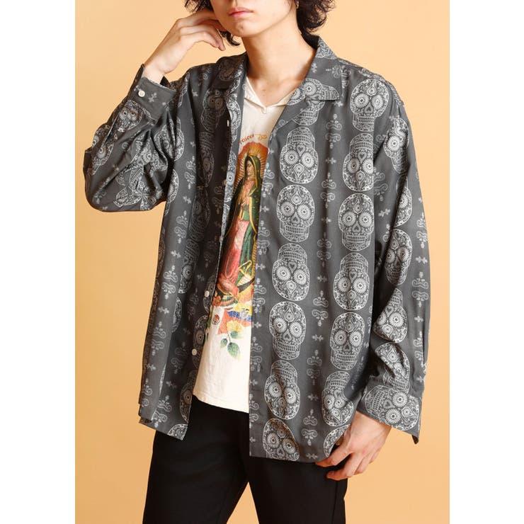 【FUVA】メキシカンスカルデザインシャツ   SPINNS【MEN】   詳細画像1