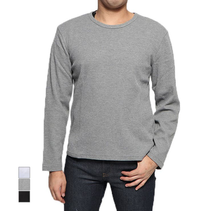Tシャツ カットソー ワッフル   Style Block MEN   詳細画像1