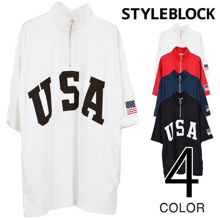 Tシャツ カットソー ハーフジップ | Style Block MEN | 詳細画像1
