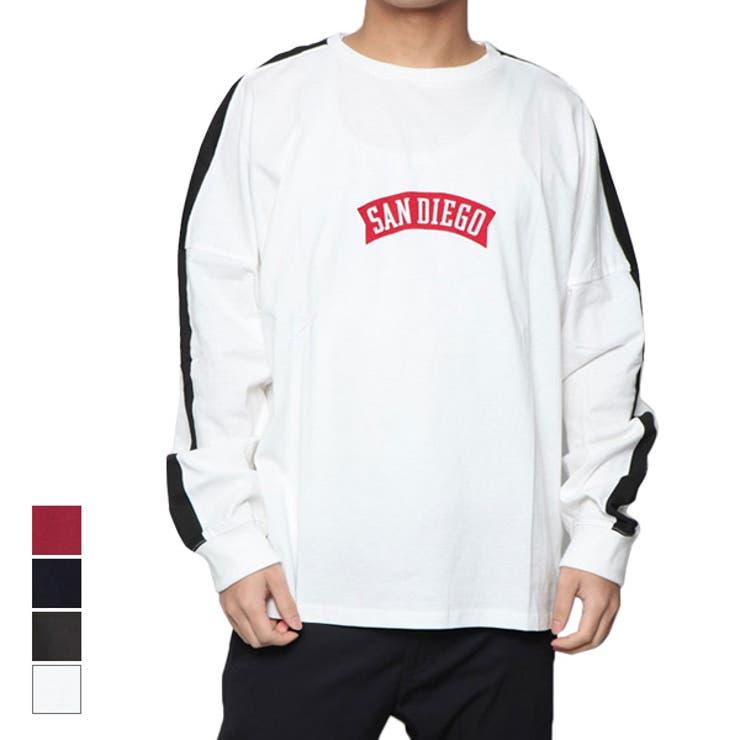 Tシャツ カットソー クルーネック   Style Block MEN   詳細画像1