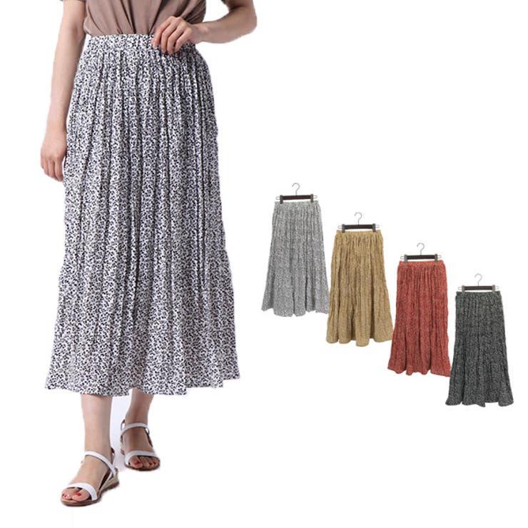 スカート フレアスカート プリーツスカート   STYLEBLOCK   詳細画像1