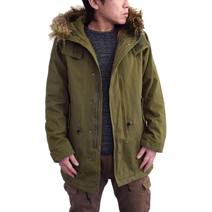 モッズコート メンズ アウター コート ミリタリーアウター ファー 中綿 ツイル 起毛 ブラウン カーキ メンズファッション 秋冬