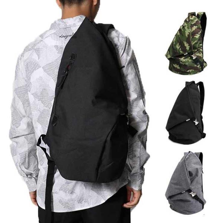 バッグ トライアングルバックパック ナイロンバッグ | Style Block MEN | 詳細画像1