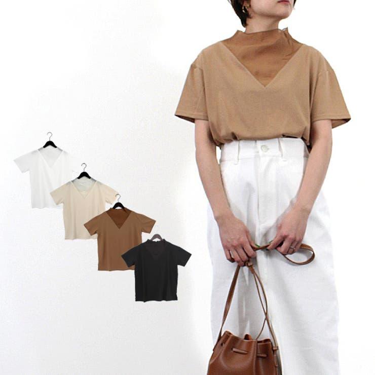 天竺×シアーポプリン切替Tシャツの商品イメージ | 詳細画像