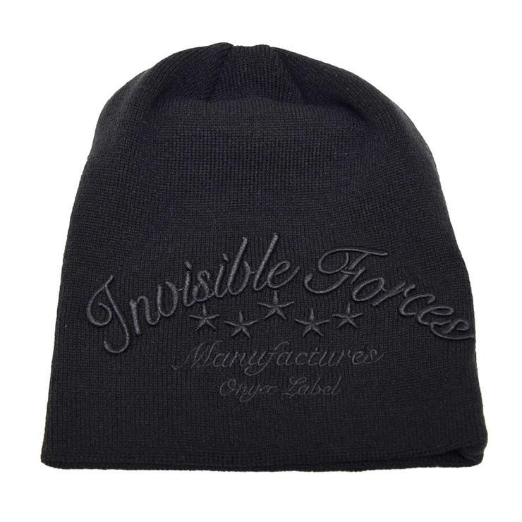 ニット帽 ニットキャップ 帽子 刺繍 ロゴ メンズ ブラック カーキ ネイビー