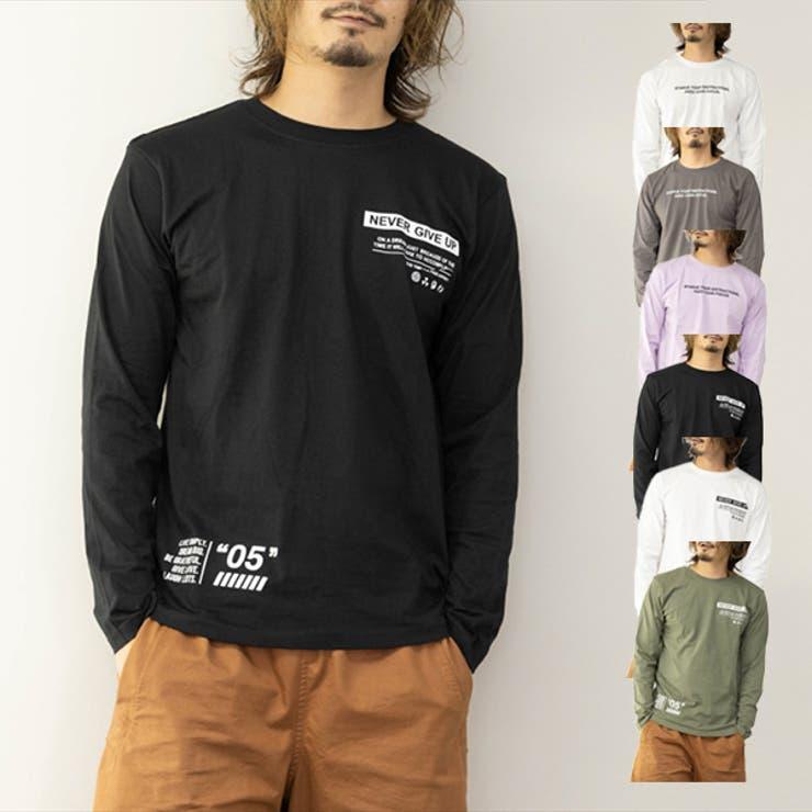 Tシャツ カットソー ロンT   Style Block MEN   詳細画像1