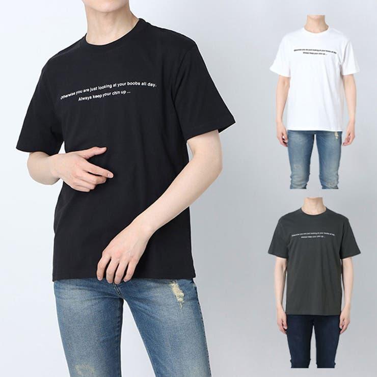Tシャツ カットソー ロゴ   Style Block MEN   詳細画像1