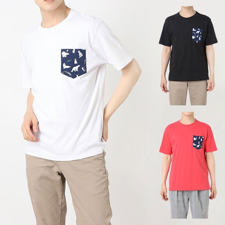 アニマルプリントポケット付半袖Tシャツの商品イメージ   詳細画像