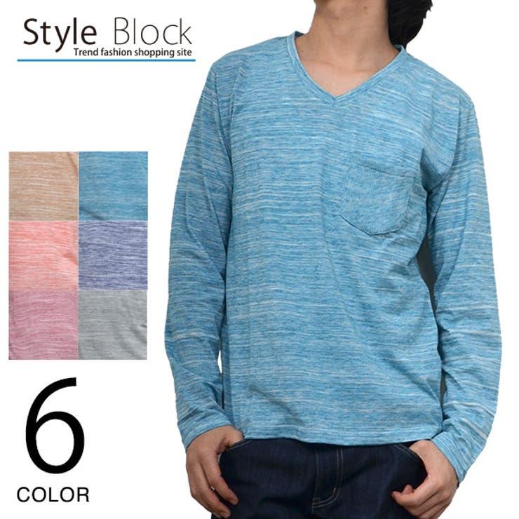 カットソー ロンT ロングTシャツ   Style Block MEN   詳細画像1