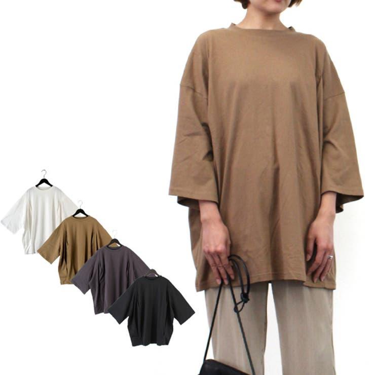 シルケット風天竺タックオーバーサイズTシャツの商品イメージ   詳細画像