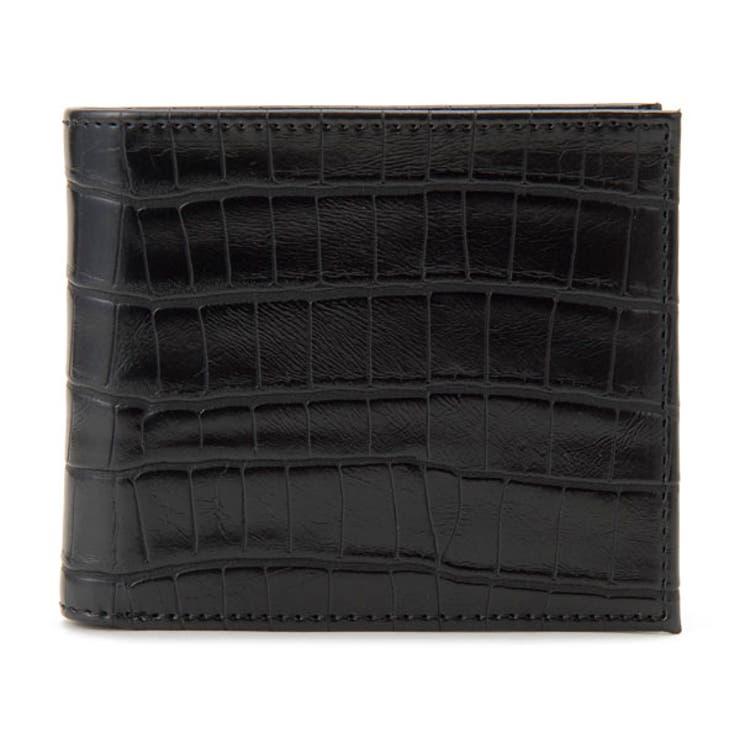 monte/SPIGA/モンテスピガ/二つ折り財布/MOSQS371ABK/クロコ型押し/ブラック/メンズ | 詳細画像