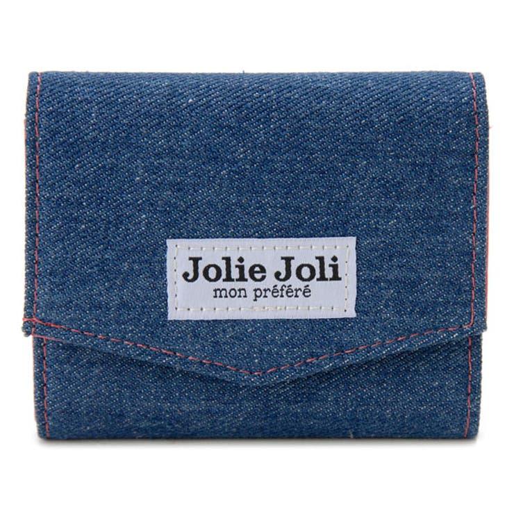 Jolie/Joli/ジョリージョリ/コンパクト三つ折り財布/2017902-004/デニム/レディース/財布/ブルー×ピンク | 詳細画像