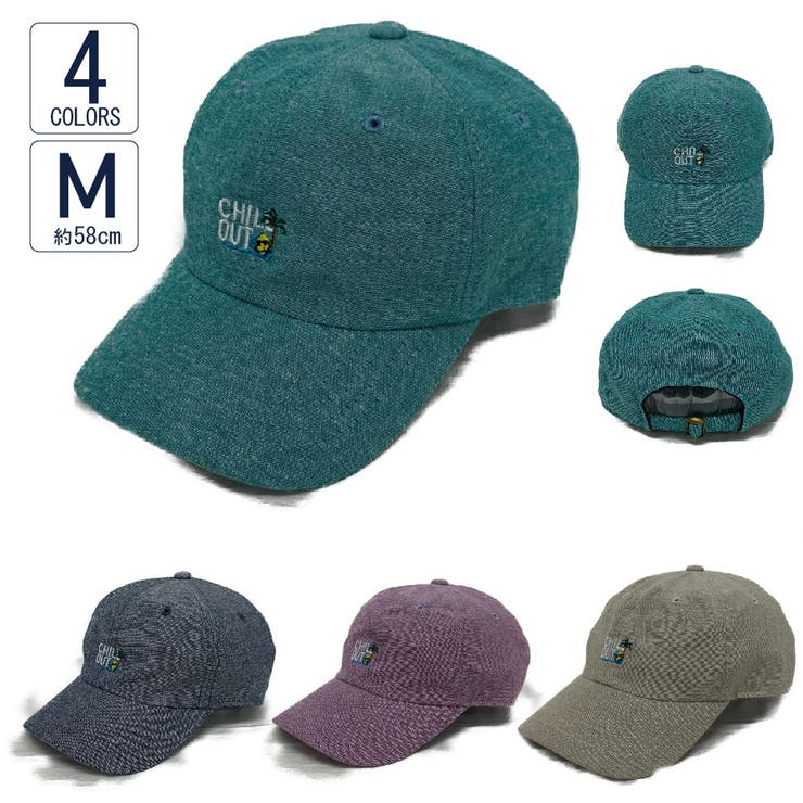 キャップ帽子メンズレディース春夏UVカットCHILLOUT刺繍ローキャップVS3-105 | 詳細画像