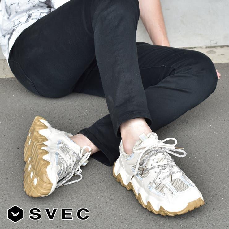 スニーカー メンズ 厚底 ダッド SPS369-14   SVEC   詳細画像1