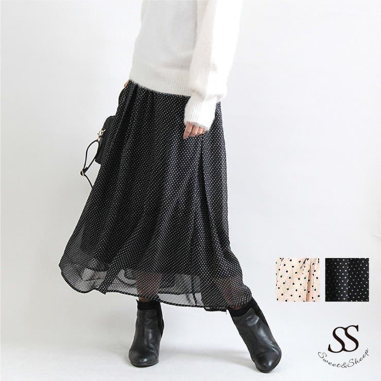 シフォン ドット スカート | Sweet&Sheep | 詳細画像1