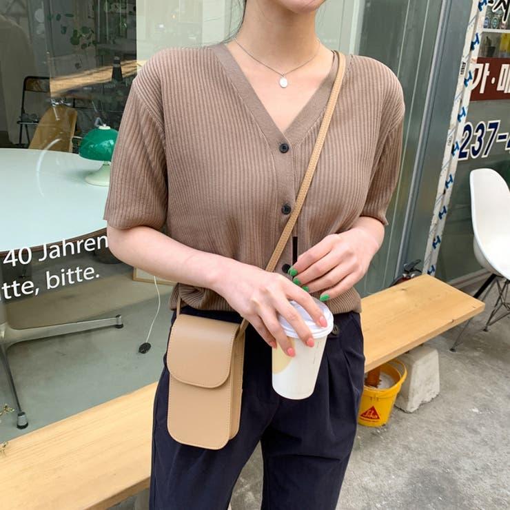 リブ編みカーディガン 韓国ファッション 可愛い | 66GIRLS | 詳細画像1
