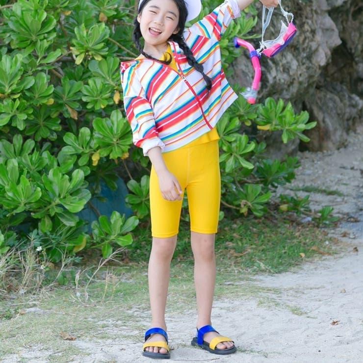マルチボーダージャケット&タンクトップ&パンツ 子供服   I Love J   詳細画像1