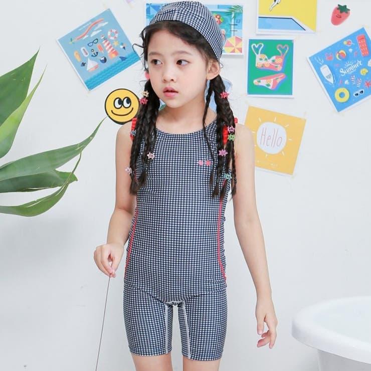ギンガムチェックフリルスイムウェア 子供服 子供服男の子 | I Love J | 詳細画像1