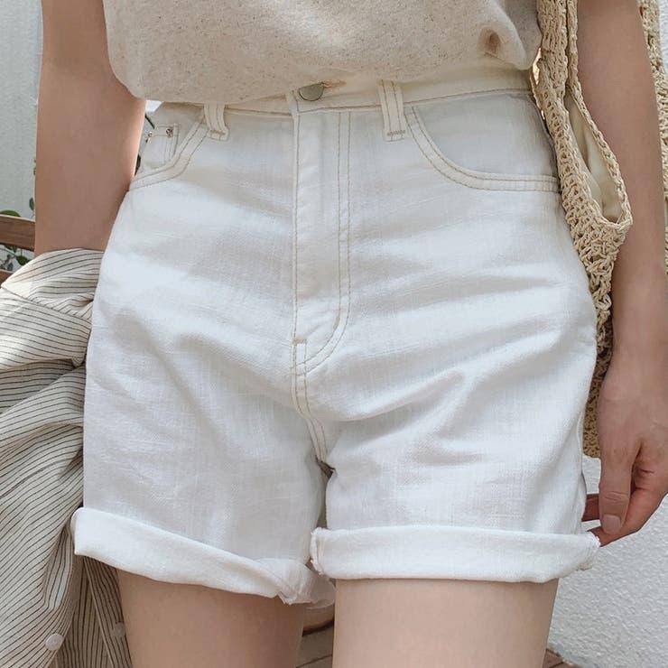 ステッチショートパンツ 韓国ファッション デイリーコーデ | MOCOBLING | 詳細画像1
