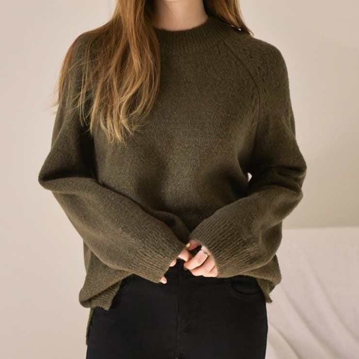 ラグランスリーブ2タイプニット 韓国ファッション 韓国オシャレ | commonunique | 詳細画像1
