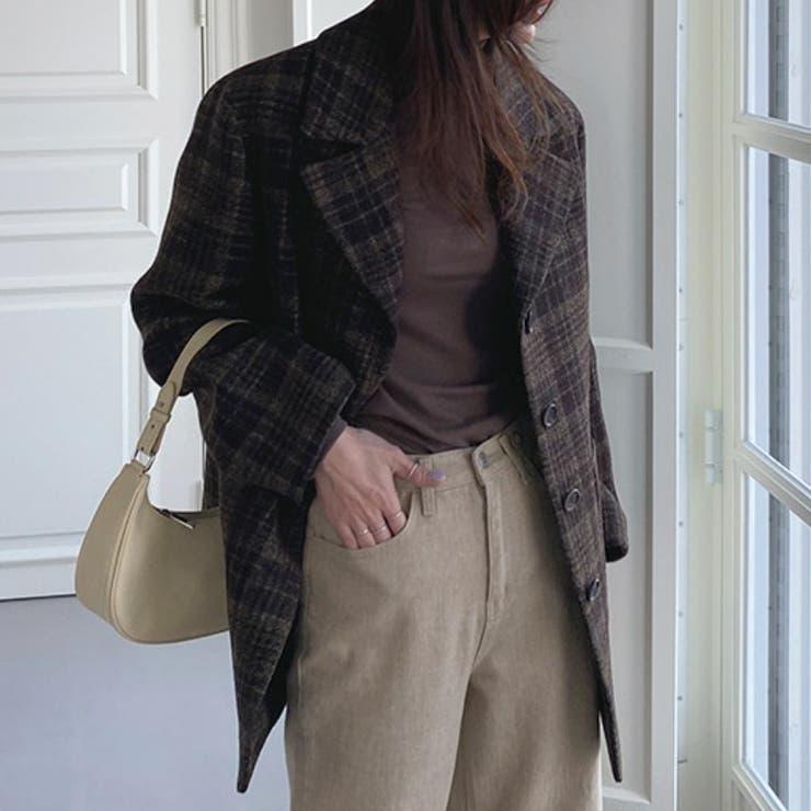 クラシックチェックコート 韓国ファッション 韓国オシャレ | PROSTJ | 詳細画像1