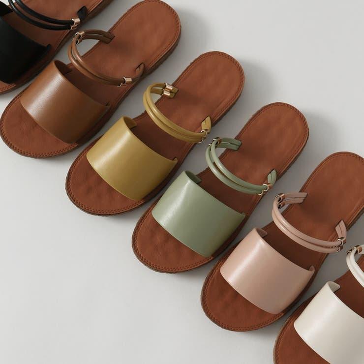 マルチストラップフラットサンダル 韓国ファッション 韓国靴 | Chaakan | 詳細画像1
