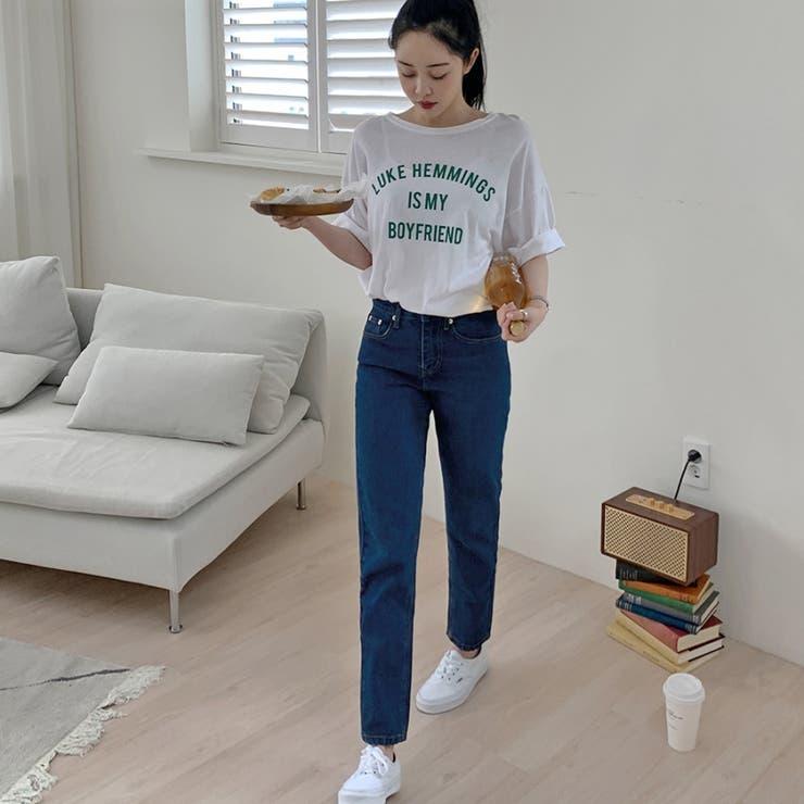 テーパードデニムパンツ 韓国ファッション 韓国オシャレ | HOTPING | 詳細画像1