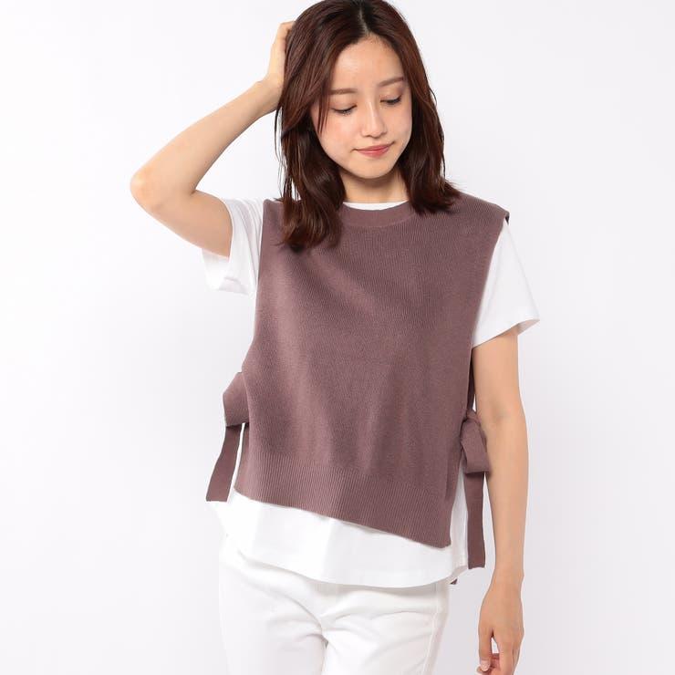 ニットベスト付きTシャツ | MISCH MASCH | 詳細画像1