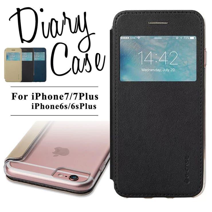 iPhone7ケース iPhone7Plus iPhone6s iPhone6 Plus 手帳型 アイフォン7 アイフォン7プラスアイフォン6s アイフォン6 アイホン7 スマホカバー シンプル 大人 窓付き 閉じたまま通知確認 お洒落 ダイアリー 耐衝撃 合皮レザー 背面クリア 透明 かわいい