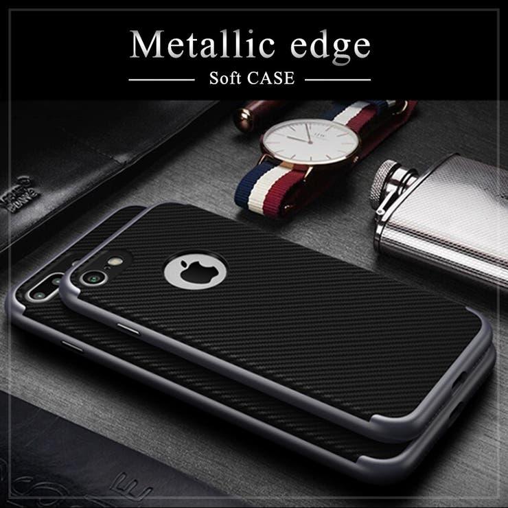 iPhone7 ケース iPhone7 Plus 耐衝撃 アイフォン7プラス アイフォン7 スマートフォン スマホカバー シンプルゴージャス 薄い 軽い TPU PC 二層構造 カメラレンズ保護 キズ防止 メタリック塗装 高級感 おしゃれ ビジネス用背面マークが見える