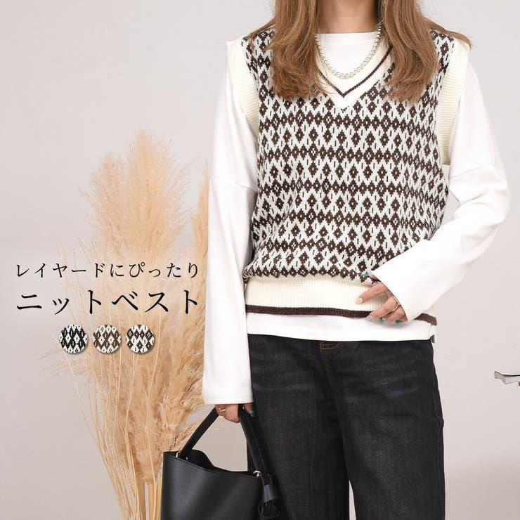 ベスト ニット 韓国ファッション | teddyshop | 詳細画像1