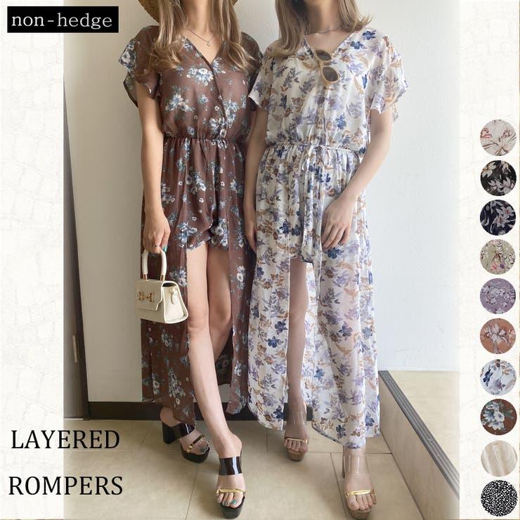 シフォンレイヤードロンパース レディース ファッション   non-hedge    詳細画像1