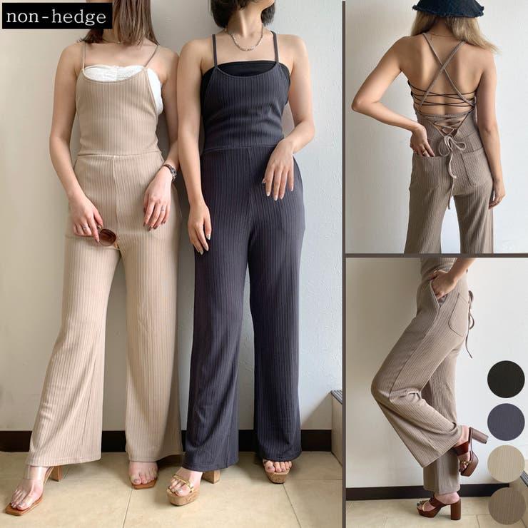 バッククロスオールインワン レディース ファッション   non-hedge    詳細画像1
