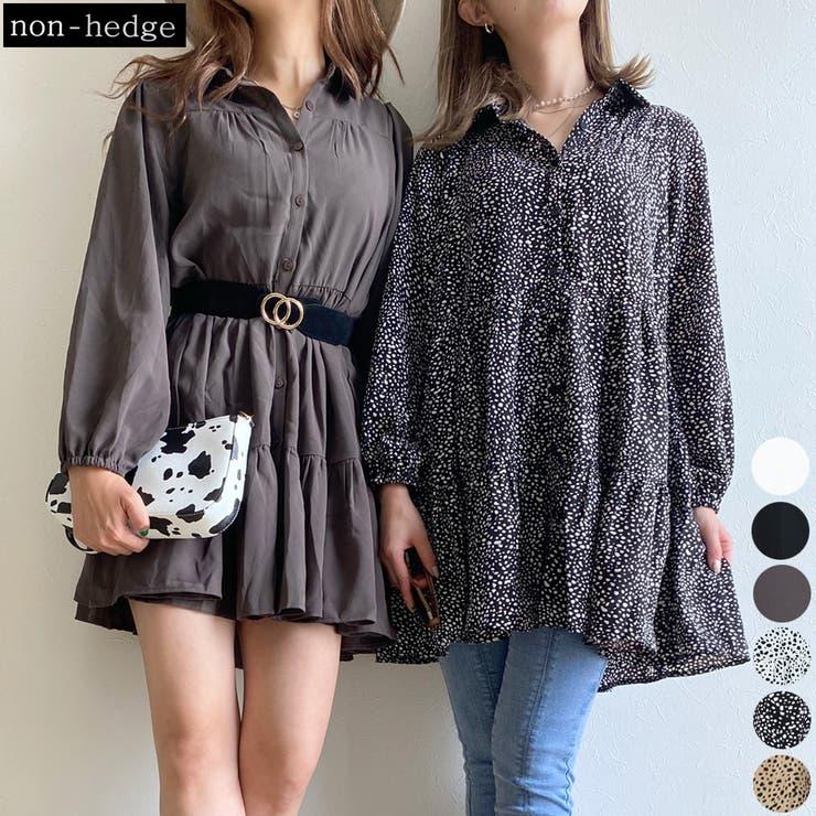 ティアードシャツチュニック レディース ファッション | non-hedge  | 詳細画像1
