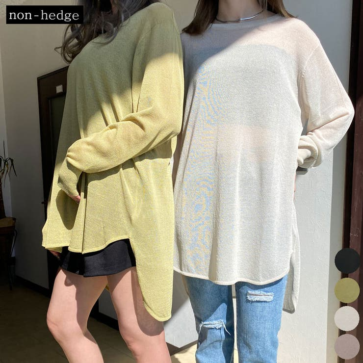 シアーニットチュニック レディース ファッション   non-hedge    詳細画像1