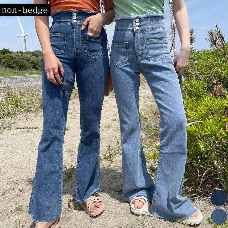 ハイウエストフリンジフレアパンツ レディース ファッション | non-hedge  | 詳細画像1