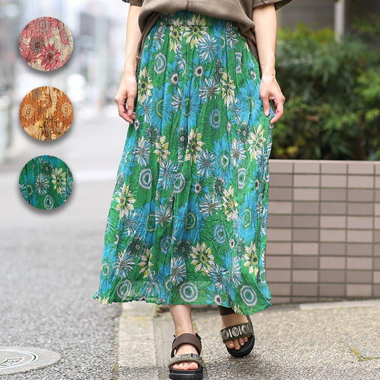 リンクルボタニカルスカート kwcca013 チチカカ | チチカカ | 詳細画像1